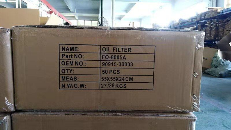 FILONG Manufactory For TOYOTA Oil filter  90915-30003 90915-30001 90915-03003 6
