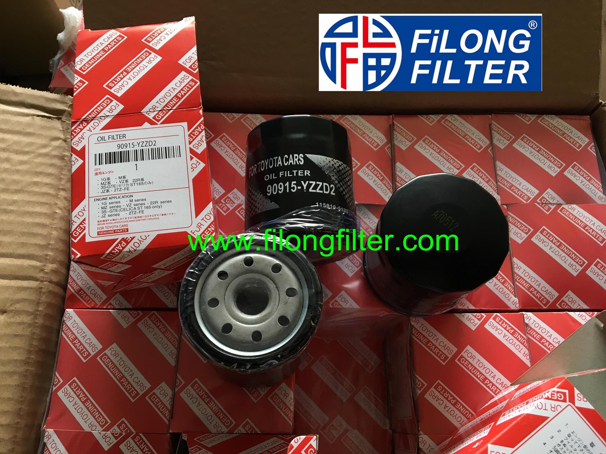 FILONG Manufactory For TOYOTA Oil filter 90915-YZZD2 90915-TB001 90915-20001   4