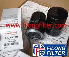 FILONG Manufactory For Mitsubishi Oil filter ME013307 ME013343 ME201871 ME215002