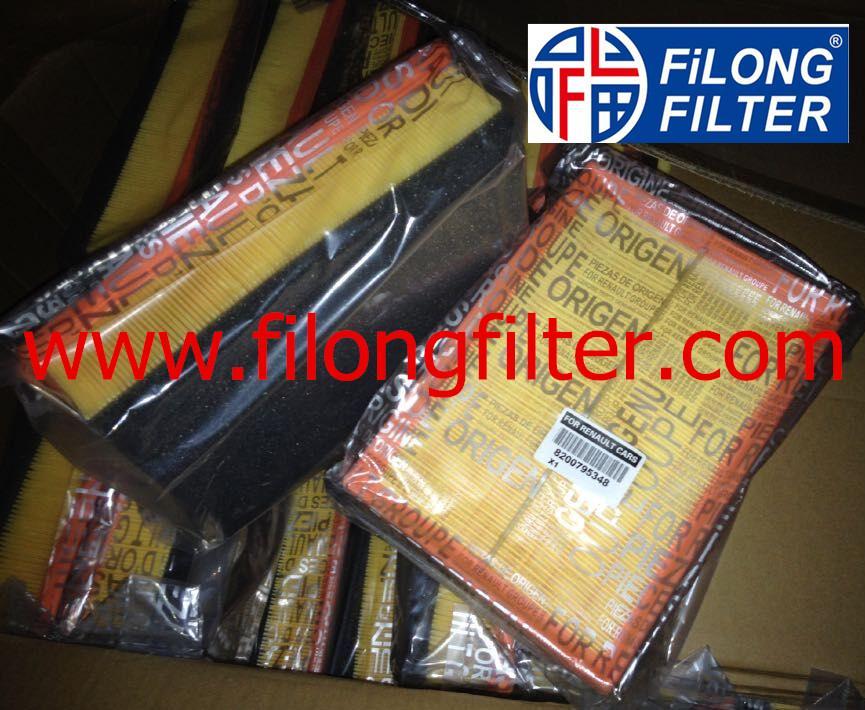 FILONG Manufactory For RENAULT Air filter  8200795348 1654600Q1L 95519246 4420258, 4423824  165465171R  93167904 AP137/6  CA11073  E1053L LX1883  C30011 ELP9357 A1407 SB2326