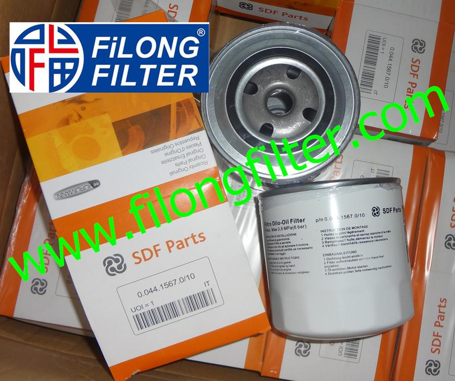 FILONG Manufactory For SDF Parts Oil filter  0.044.1567.0/10 004415670/10