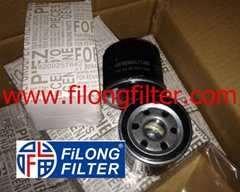 FILONG Manufactory For RENAULT Oil filter  7700112686, 7700863124, 7700867824, 7700869029, 7770820375, 8200257642, 8671005907, 8671005907 1520800QAG 1109P4  1109P4, 1109S0 OP642, OP642/2 PH5885, PH6017A, PH9928  H97W03, H97W06, H97W09, H97W12  	W66, W68  	OC259, OC475