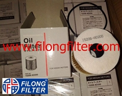 FILONG Manufactory For NISSAN Oil filter  152085M300, 15208AD200, 15208AD20A, 15208AD300, 15208BN31A  OE669 CH9432ECO E23HD81 HU819/1x   OX192D, OX192DECO 	L333  	SH4763, SH4763P