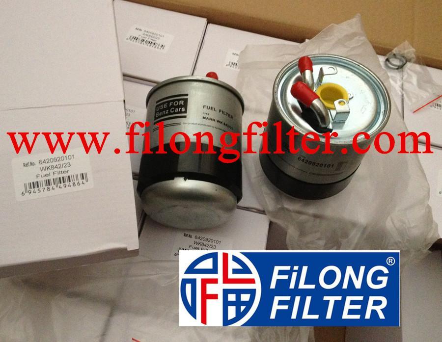 FILONG Manufactory  For MERCEDES-BENZ Fuel filter   6420920101, 6420920501, 6420920701, 6460900252, 6460900852, 6460920201, 6460920601, 6460920601, 6460920701, 6460920701, A6420920101, A6420920501, A6420920701, A6460900252, A6460900852, A6460920201, A6460920601, A6460920701 05117492AA, 05175429AB, 71775532  K05117492AA, K05175429AB   WK842/23x,KL228/2D PP841/7  P10148 H278WK ELG5342 FN796 ST6088