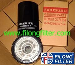 For ISUZU Oil Filter 8-94396375-1 8943963751 8943963754 8-94391049-0 8943910490
