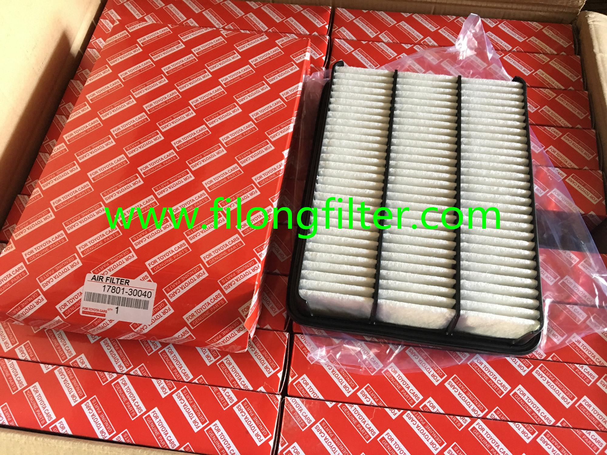 FILONG Manufactory For TOYOTA Air filter 17801-30040  C32005 LX1700 17801-30080