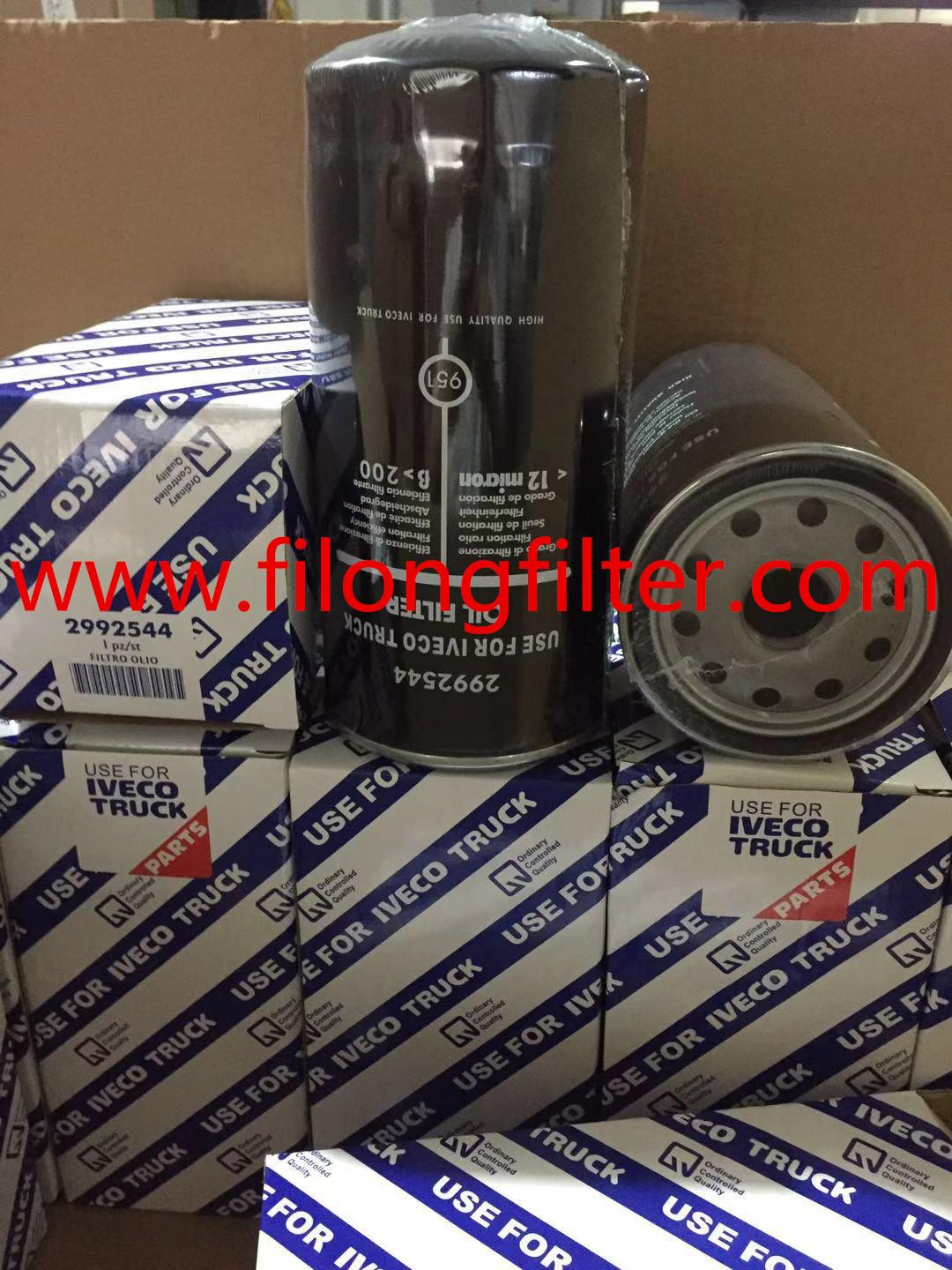 FILONG Manufactory Supplier For IVECO Truck Oil filter 2992544 504026056   1