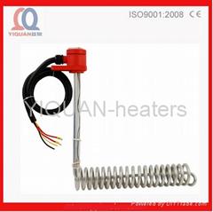 L-shape Spiral Teflon(PTFE) Chemical Anticorrosive Immersion Heater