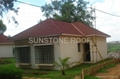 Stone coated steel roofing material