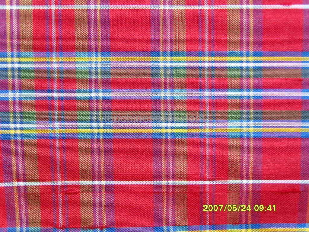 yarn-dyed silk fabric checks 1