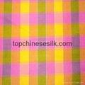 色織格子雙宮綢 2