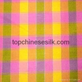 yarn-dyed silk fabric checks