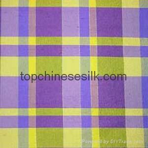 yarn-dyed silk fabric checks 3