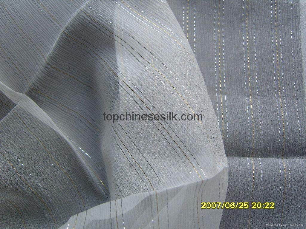 Krincle georgette with metallice stripes 10152W 1