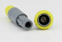 Lemo 3 pin Series P Plastic Substitute Connector, use formedical equipment cable