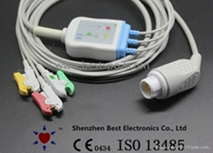 Compatible with Philips MP 20 MP 30 ECG Cable 3 lead and leadwires IEC Snap