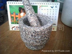 granite mortar pestle