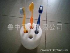 天然石制牙刷盒,牙刷缸