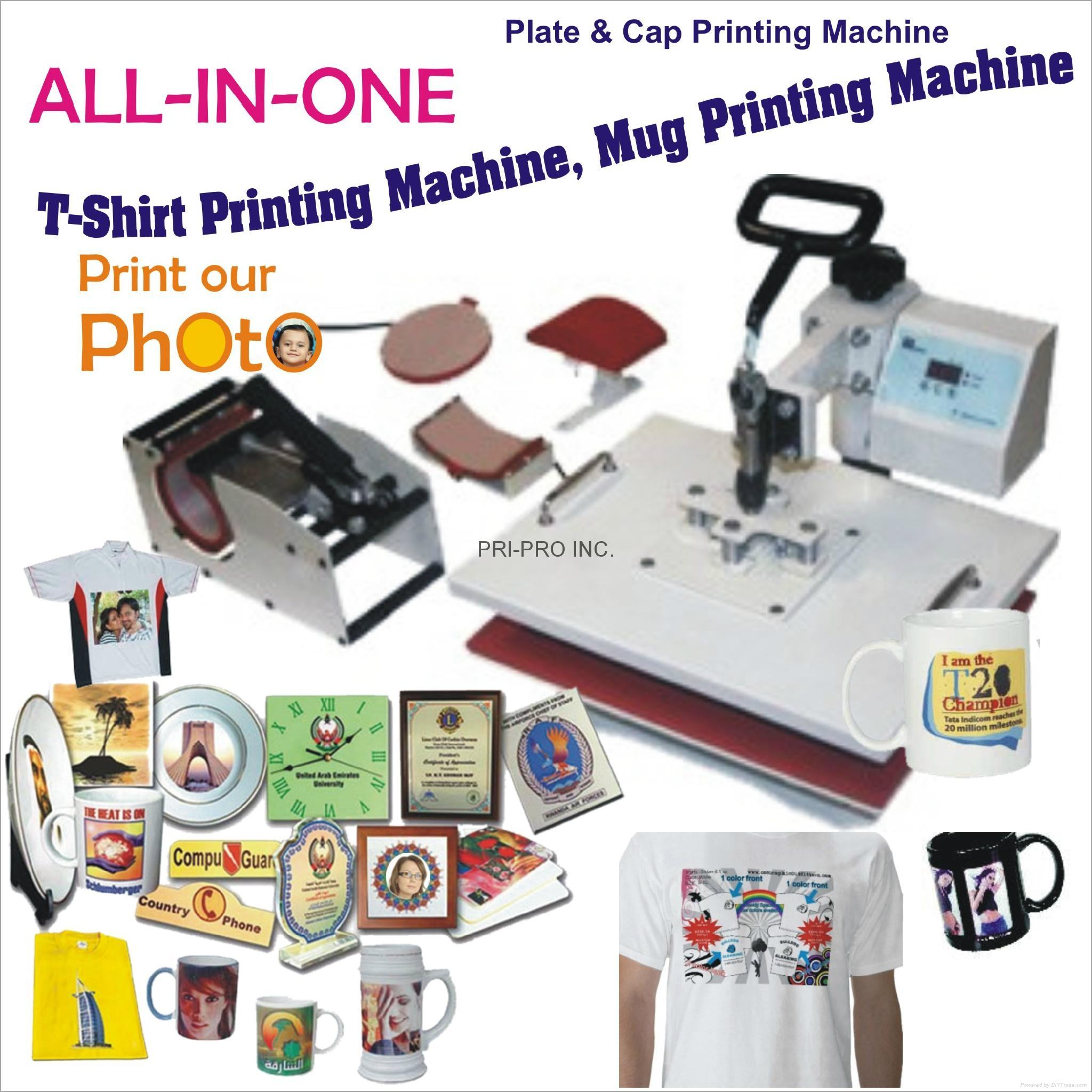 All in one t shirt mug printing machine india for T shirt printing machines