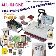All in One T shirt Mug printing machine