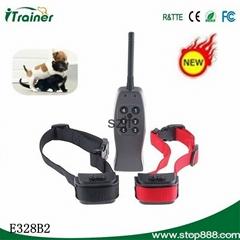 E328B2遥控震动带静电训狗止吠器-控制两只狗
