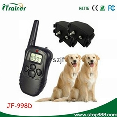998D2 Remote training system with LCD display-100 Level-for 2 dogs