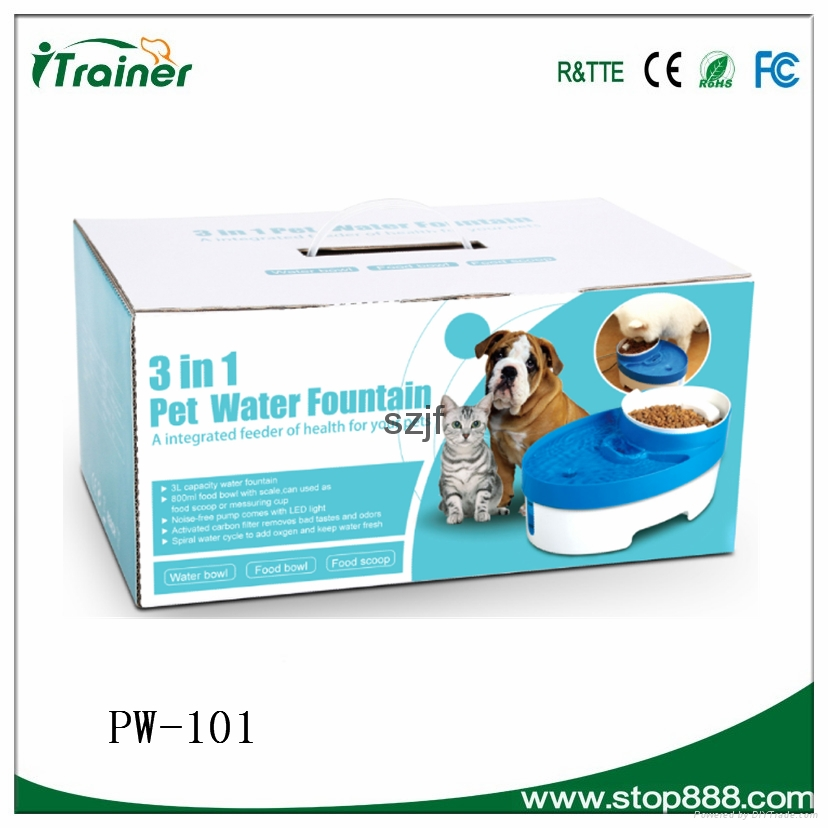 Automatic pet feeder PW-101 dog fountain doggie&cat water fountain 2