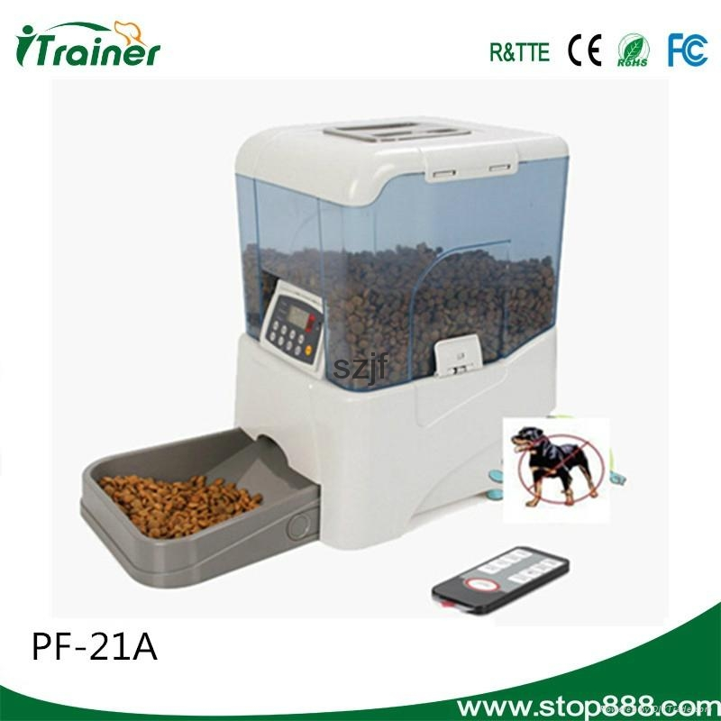 2014 Best Sell PF-21A Remote Controlled Automatic Pet Feeder 1