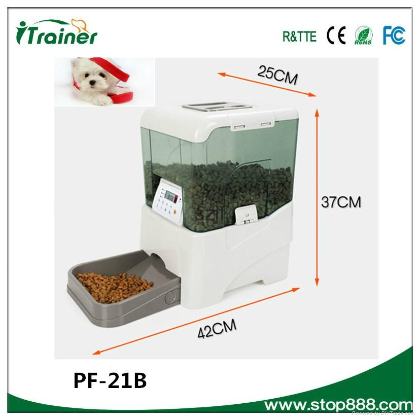 PF-21B 2015 new designed automatic programmable pet feeder, pet automatic feeder 3