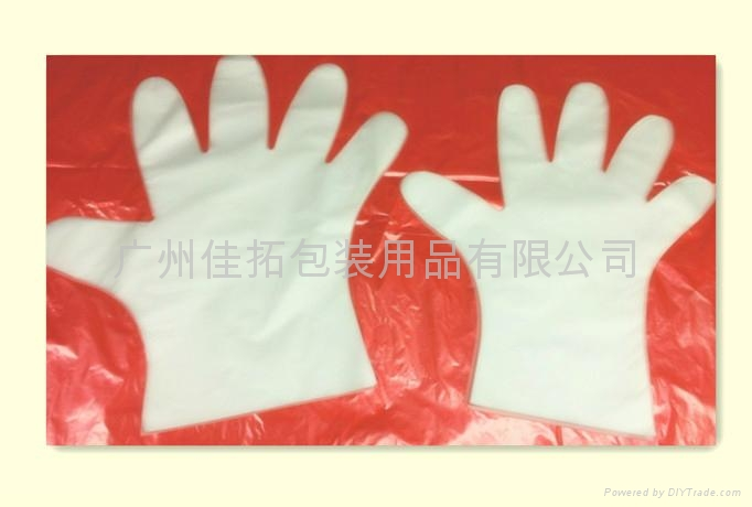 Disposable CPE gloves 1