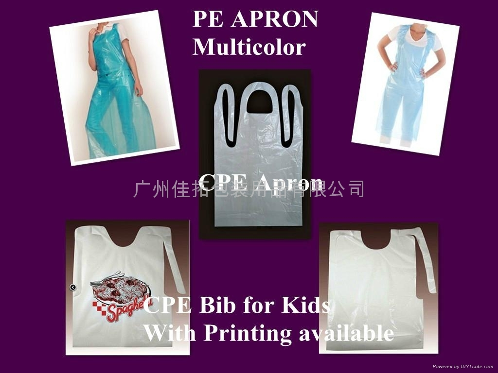 PE/ CPE APRON  PE / CPE BIBS FOR KID MULTICOLOR AND WHITE ARE AVAILABLE