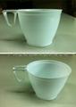 一次性白色塑料咖啡杯 帶手柄