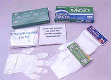 PE &vinyle Disposable gloves & apron