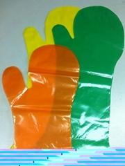 Disposable mitt gloves
