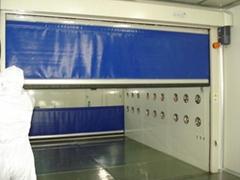 PVC快速捲簾門不鏽鋼貨淋室