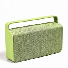 Wireless Fabric Bluetooth Speaker  Dual 10 W Enhanced Bass Portable