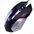 Ergonomic LED Gaming Wired Mouse with 4 DPI/Breathing Colors LED