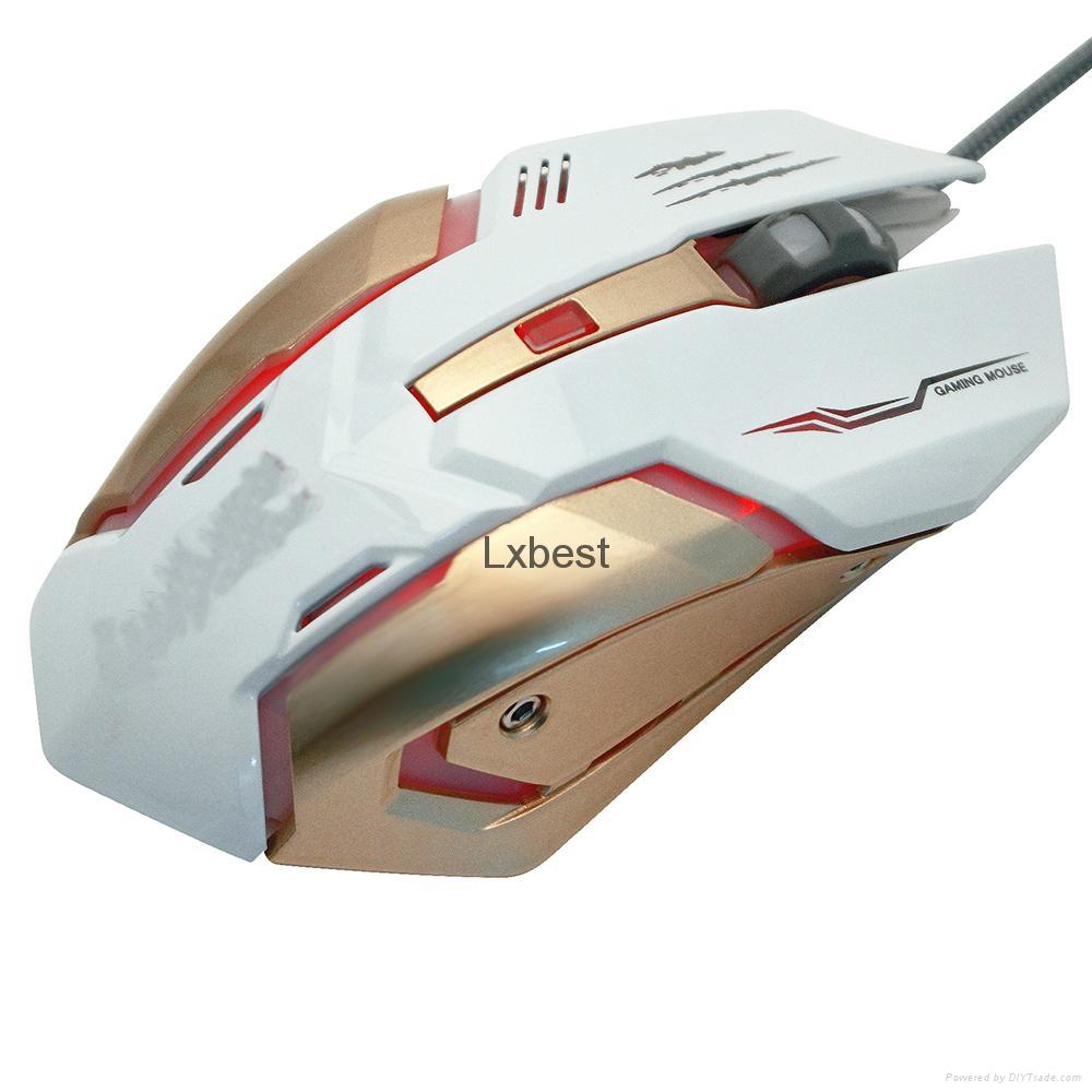 新款游戏鼠标 6键 款式时尚 价格优惠 手感好 深圳厂家直销 实惠 4