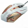7 Buttons LED USB Wired Optical Gaming Mouse