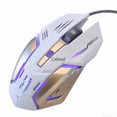 新款遊戲鼠標 6鍵 款式時尚 價格優惠 手感好 深圳廠家直銷 實惠