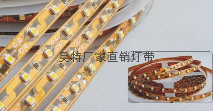 广东厂家直销批发 3528-60-12v裸板灯带 七彩可选 2