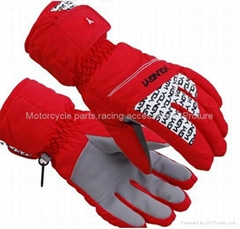 Wholesale custom cheap winter waterproof heated ski gloves