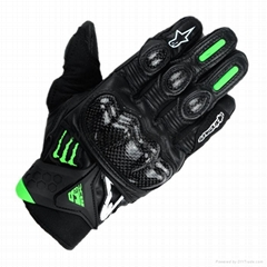 New design monster Sports gloves motorcycle gloves leather gloves
