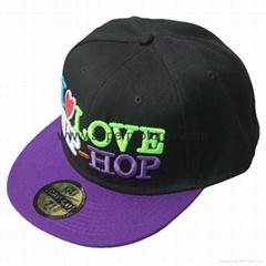 Custom 6 Panel Neon Flat Visor Hip Hop Snapback Hat