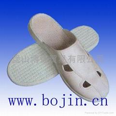 防靜電皮四孔拖鞋