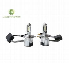 8000lm car led headlight bulb H4 with fan