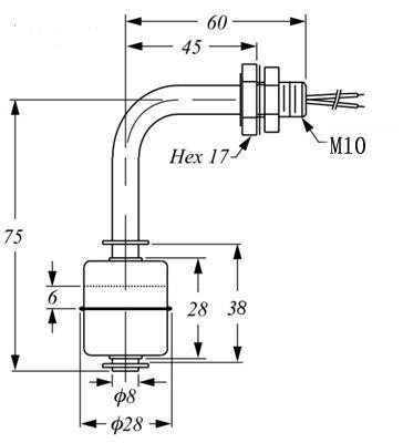 侧装不锈钢液位开关LSS2A1 2