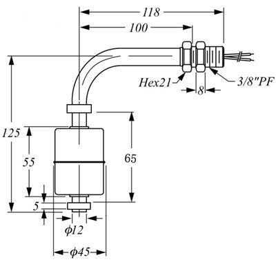 不锈钢液位开关LSS2A2 2