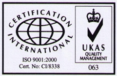 ISO 9001:2000 认证企业