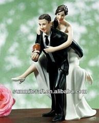 Resin precious moments Love Pinch Bridal Couple Figurine,Caucasian Couple